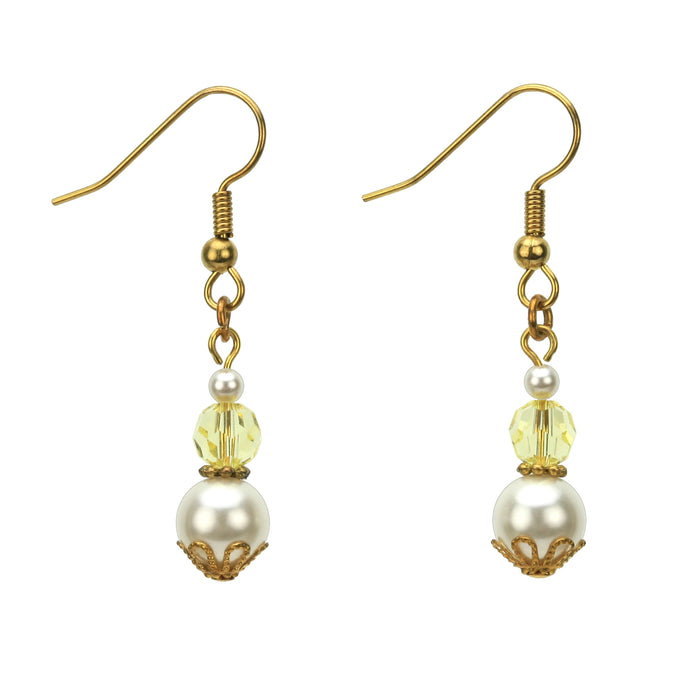Gold November Birthstone Earrings