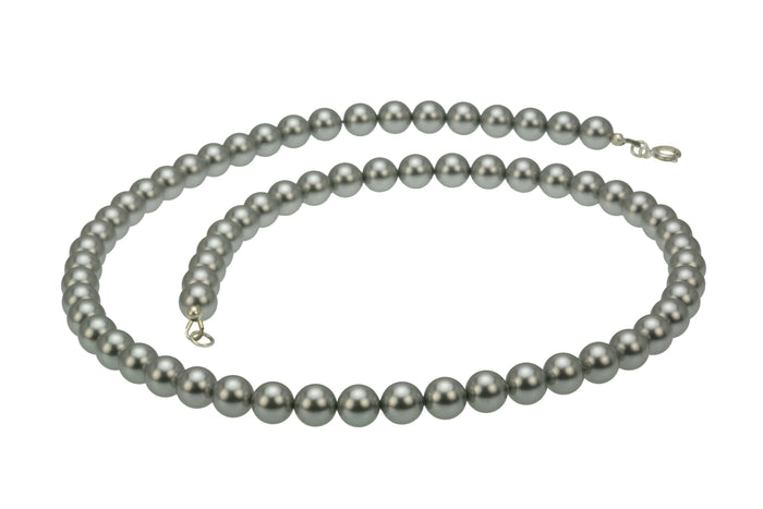 Light Grey Pearl Silver Necklace