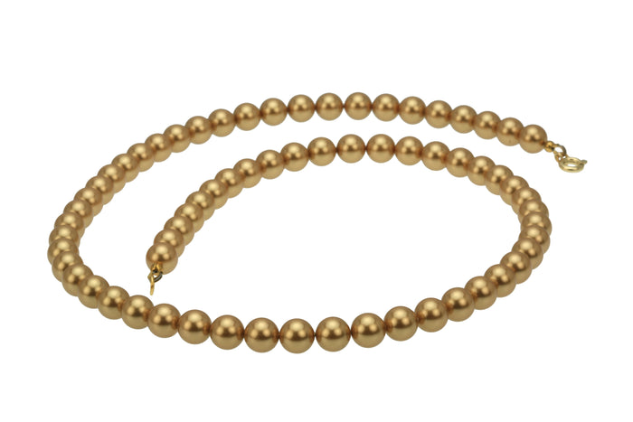 Bright Gold Pearl Gold Necklace