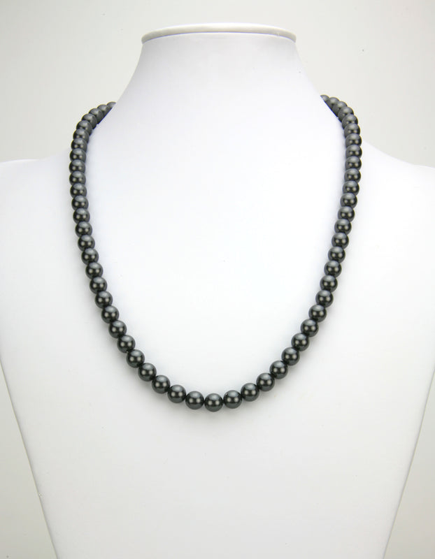 Black Pearl Silver Necklace