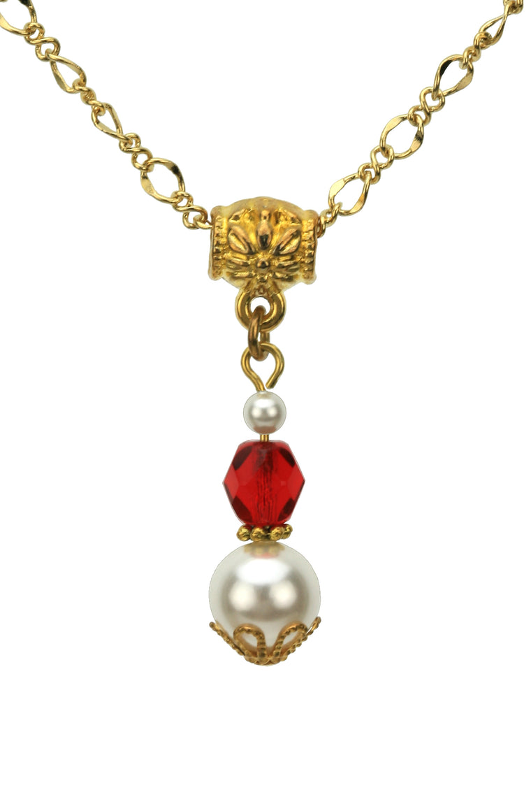 Gold July Birthstone Pendant