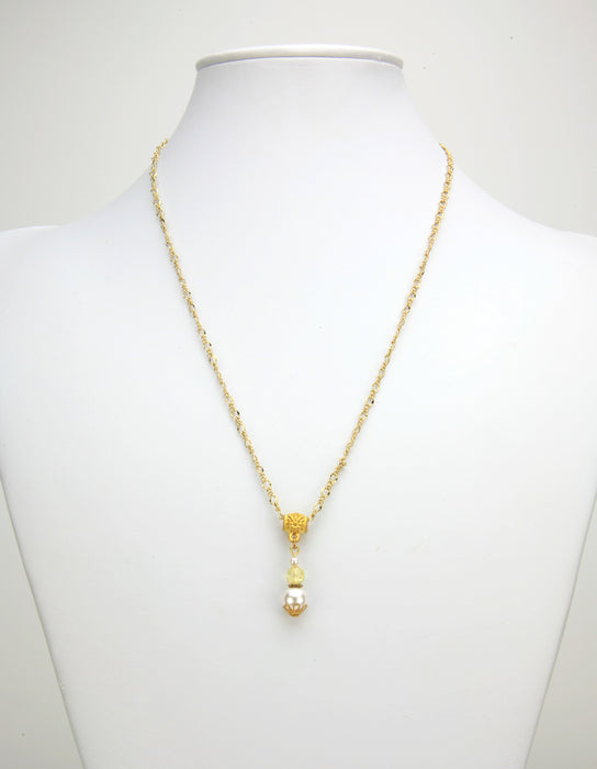 Gold November Birthstone Pendant
