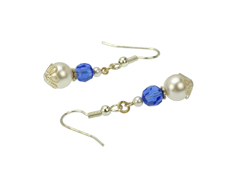 Silver September Birthstone Earrings