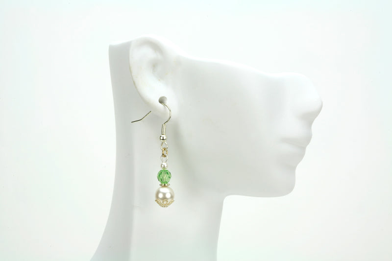 Silver August Birthstone Earrings