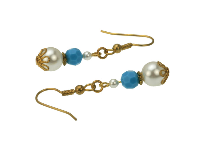 Gold December Birthstone Earrings