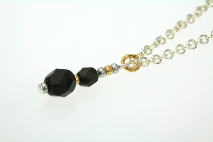 Black and Gold Silver Pendant