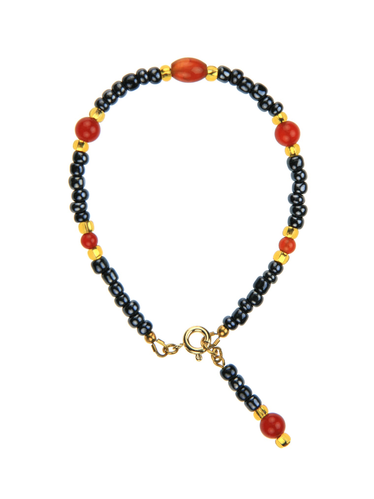 Carnelian Night Sky Gold Bracelet