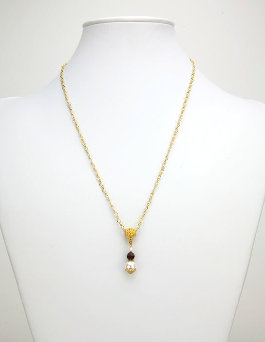 Gold January Birthstone Pendant