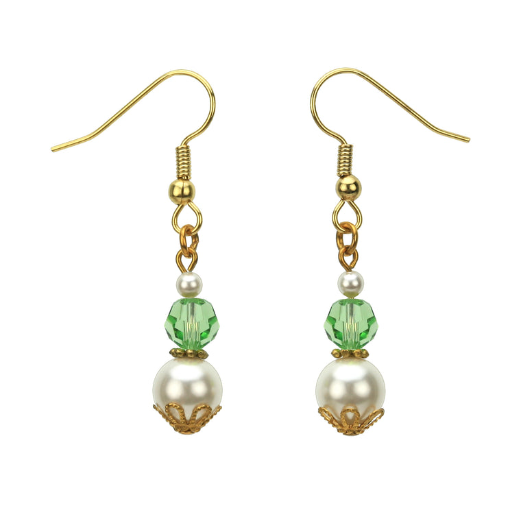 Gold August Birthstone Earrings