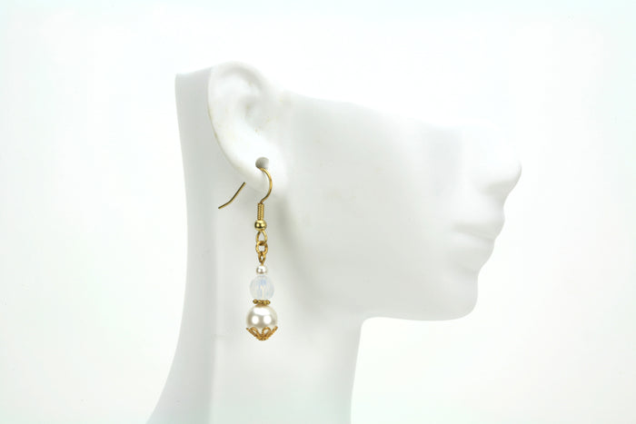 Gold October Birthstone Earrings