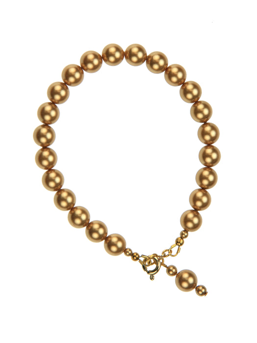 Bright Gold Pearl Gold Bracelet