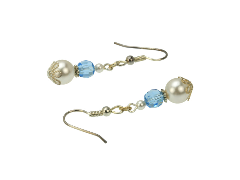 Silver March Birthstone Earrings