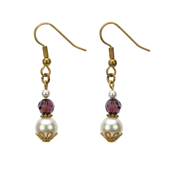 Gold February Birthstone Earrings