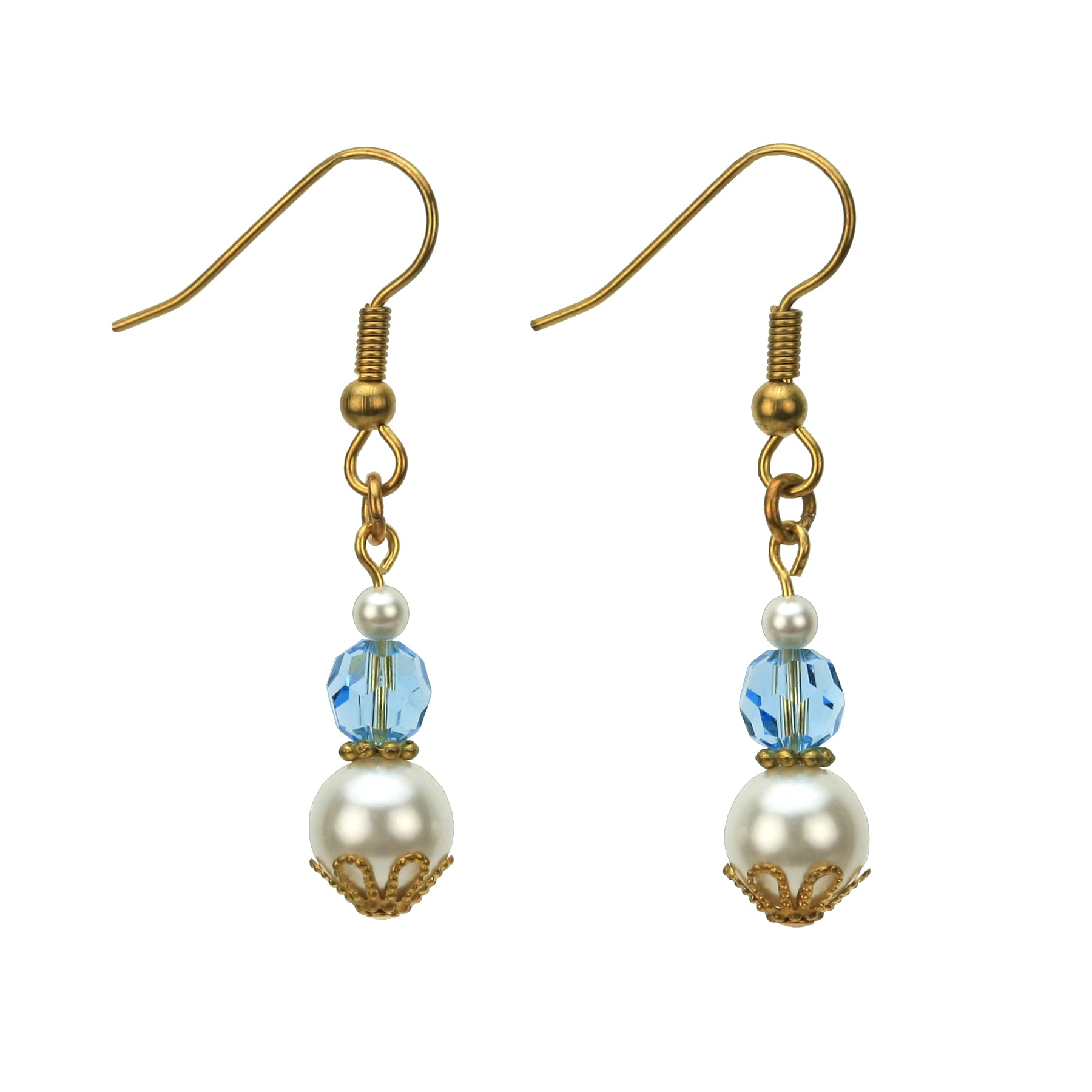 Gold March Birthstone Earrings