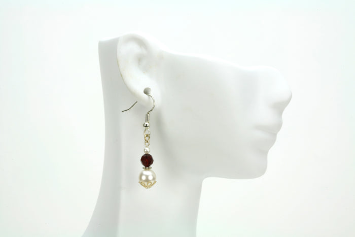 Silver January Birthstone Earrings