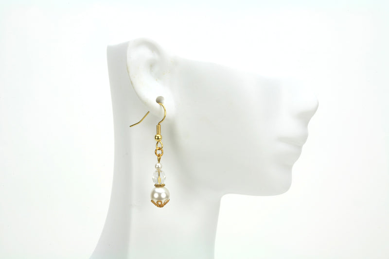 Gold April Birthstone Earrings