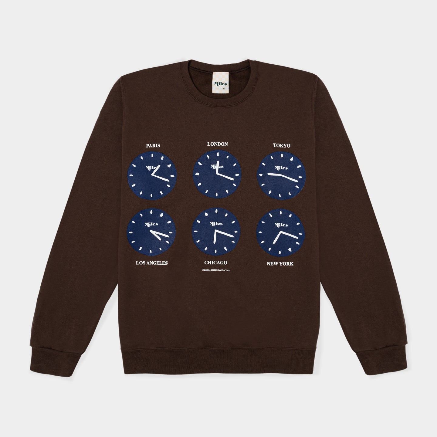 Time Crewneck – Brown