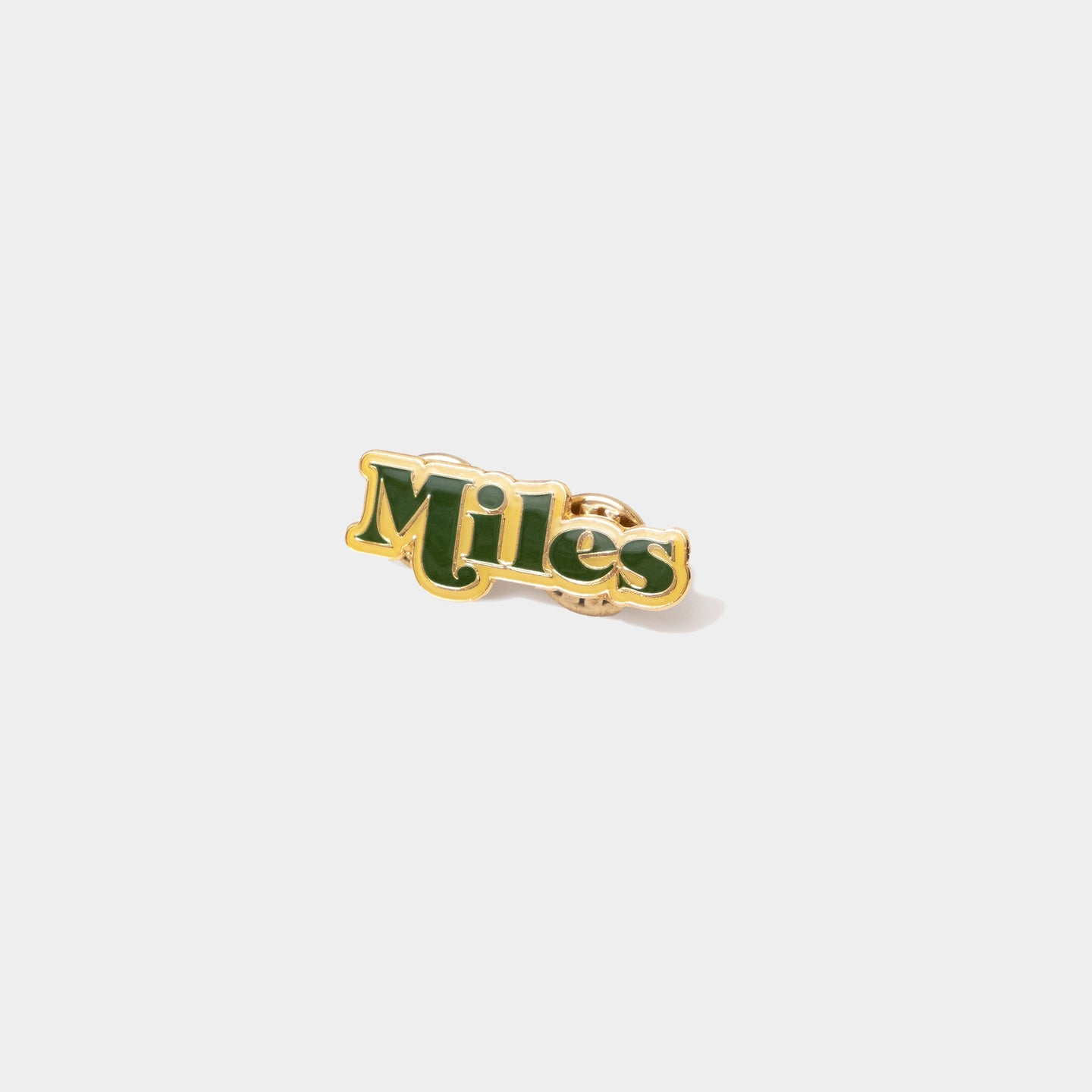 Miles Logo Pin – Green