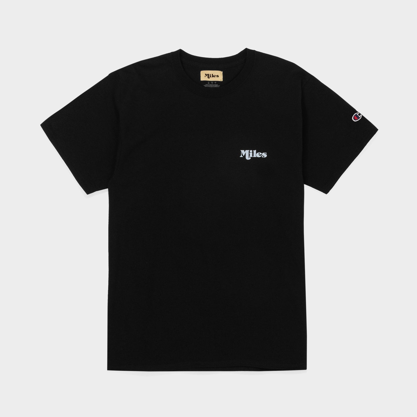 Miles Logo T-Shirt – Black