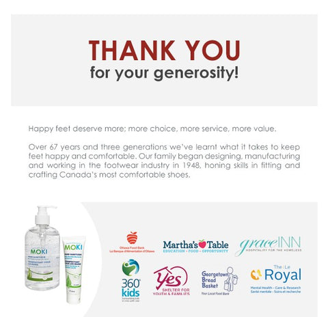 Thank you for your donations image