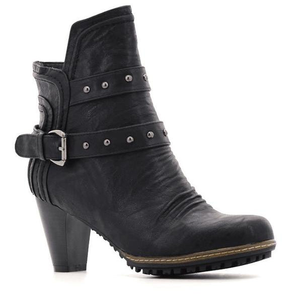 Bellasiba Ladies Buckle High Heel Boots