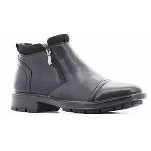 Stepwel Mens Zipper Ankle Boots-STEPWEL-Shumaker Shoes