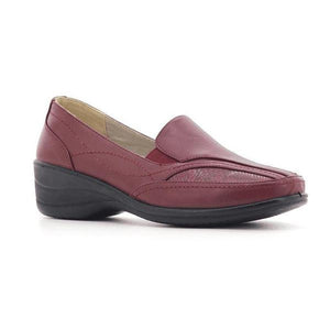 Stepwel Ladies Slip-on Ankle Loafers-STEPWEL-Shumaker Shoes