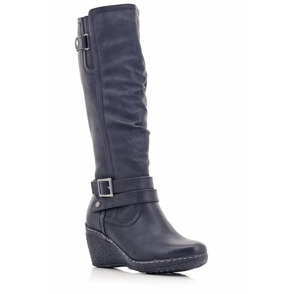 Stepwel Ladies Buckle Calf Boots