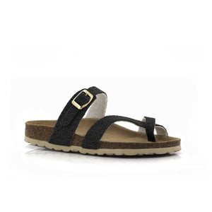 3572 Black FJORD LADIES SANDALS at Shumaker