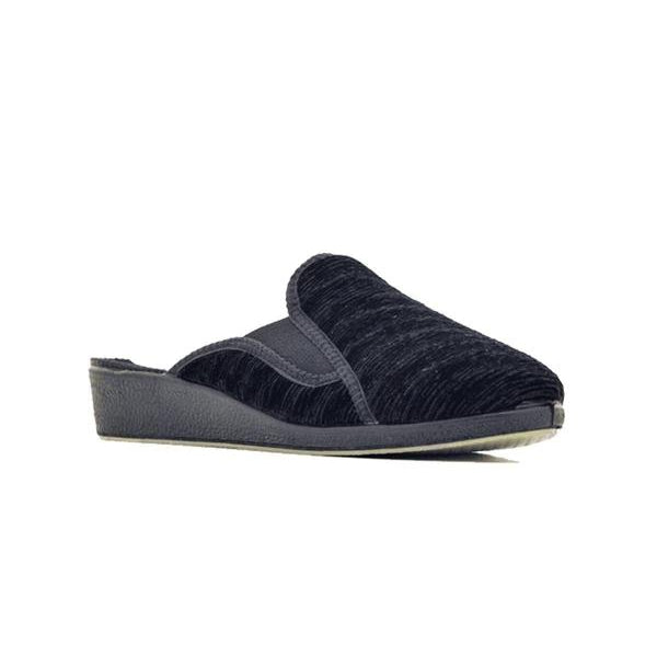 Cozy-N-Comfy Ladies Slide Stretch Faux Scuff Slippers