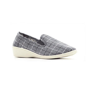 4109 Grey FJORD LADIES SLIPPERS at Shumaker