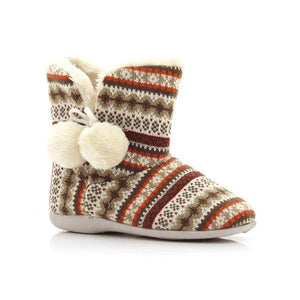 Fjord Ladies Tassel Warm Knit Boots-FJORD-Shumaker Shoes