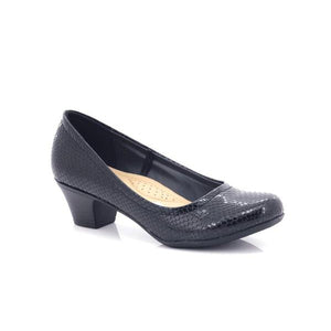 Comfort-zone Ladies Slip-on Wide Soft Pumps-COMFORT ZONE-Shumaker Shoes