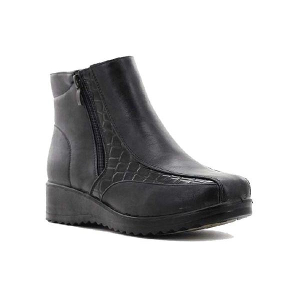 Stepwel Ladies Zipper Ankle Boots