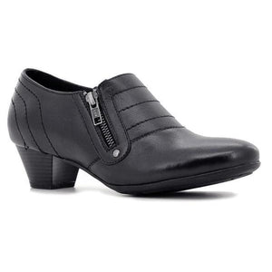Ortho Solutions Ladies Zipper Low-heel Shoes-ORTHO SOLUTIONS-Shumaker Shoes