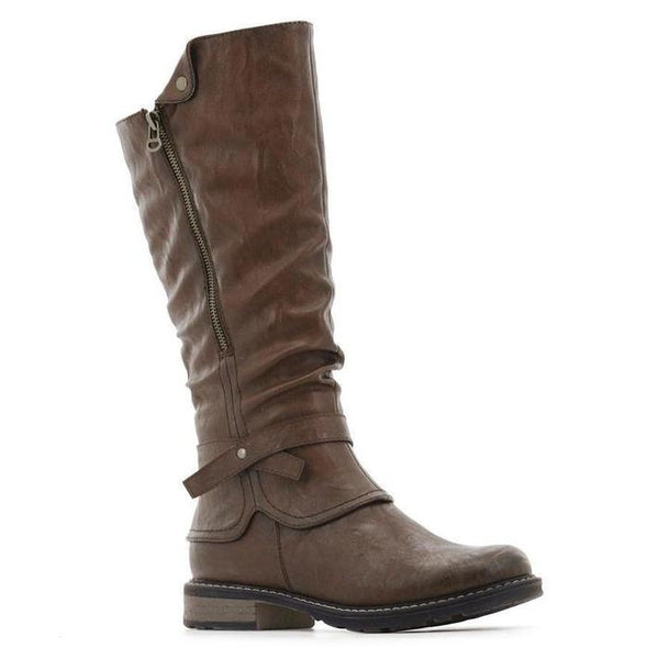 Stepwel Ladies Zipper Calf Boots