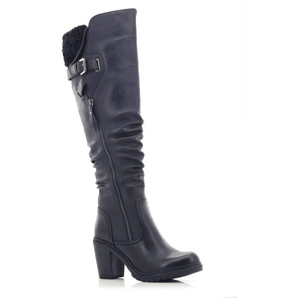 Fjord Ladies Buckle Zipper Tall Arctic Warm Boots