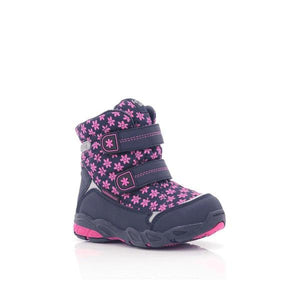Itsy Bitsy Girls Velcro Ankle Patterned Boots-ITSY BITSY-Shumaker Shoes