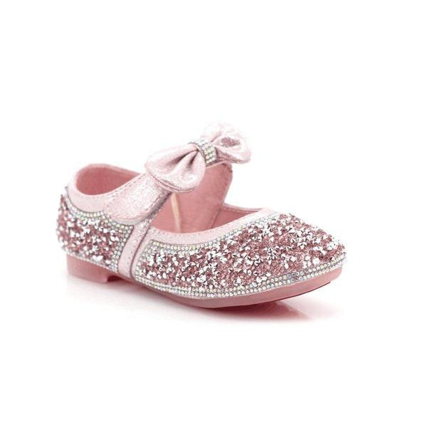 Jack-n-Jill Girls Velcro Glittering Ankle Shoes