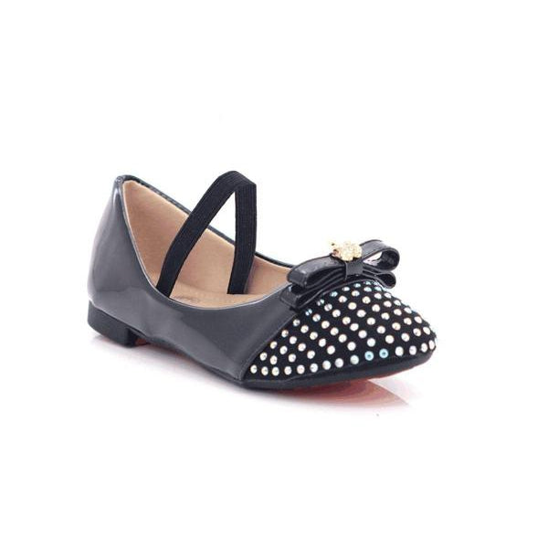 Jack-n-Jill Girls Slip-on Rubber Strap Sparkly Shoes