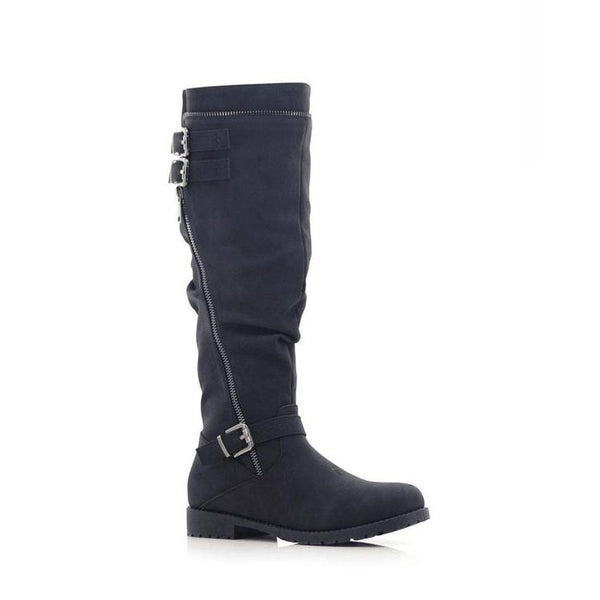 Lolla-bacchi Ladies Triple Buckle Zipper Calf Boots