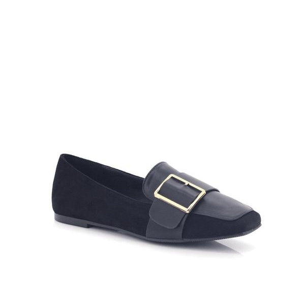 Bellasiba Ladies Slip-on Buckle Loafers