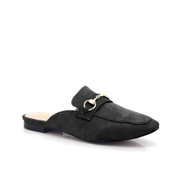 Bellasiba Ladies Slip-on Solid Ankle Half Shoes