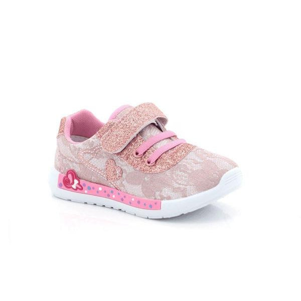Itsy-bitsy Girls Velcro with Lace-up Beam Sneakers