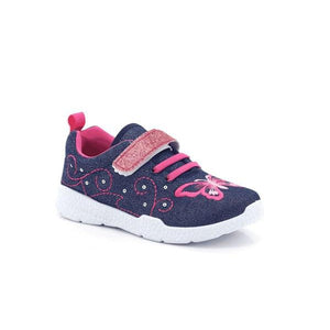 Itsy-bitsy Girls Velcro Indoor Sports Shoes-ITSY BITSY-Shumaker Shoes