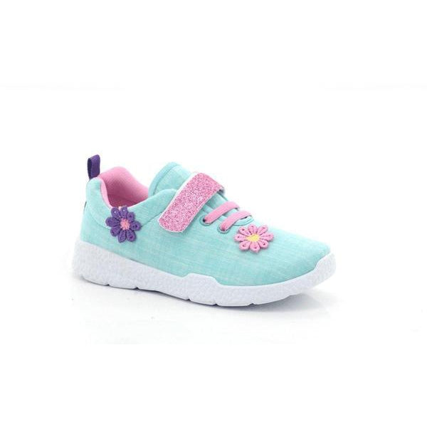 Itsy-bitsy Girls Flower Velcro Ankle Sneakers