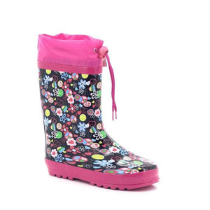 Muddy-puddles Girls Tassel High Rain Boots-MUDDY PUDDLES-Shumaker Shoes
