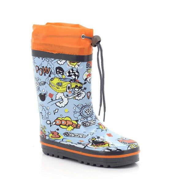 Muddy-Puddles Girls Tassel High Ankle Waterproof Boots
