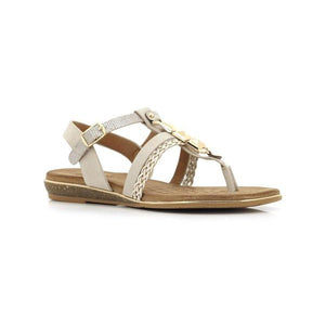 H73 Beige BELLASIBA LADIES SANDALS at Shumaker