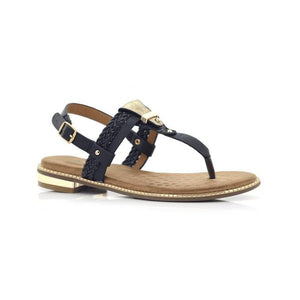 H74 Black BELLASIBA LADIES SANDALS at Shumaker